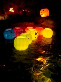 Mystical Halloween Lighting Ideas with Spellbinding candle and light string effect Part 53