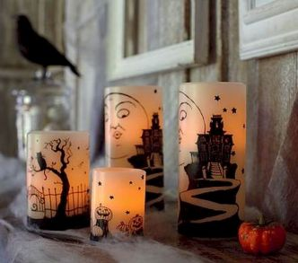 Mystical Halloween Lighting Ideas with Spellbinding candle and light string effect Part 55