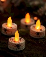 Mystical Halloween Lighting Ideas with Spellbinding candle and light string effect Part 57