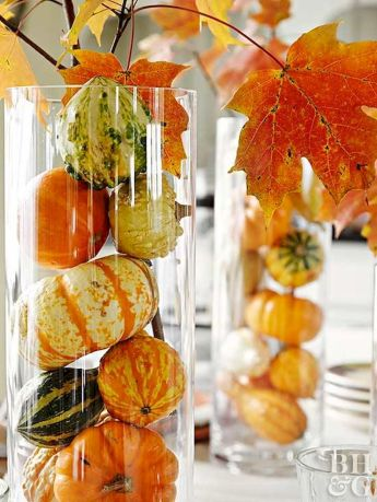 Thanksgiving Celebration Dining Table Centerpieces Idea Part 33