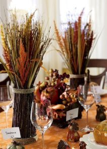 Thanksgiving Celebration Dining Table Centerpieces Idea Part 39
