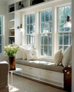 Bay Window seating with extra features Like Storage and Book Shelf Part 27