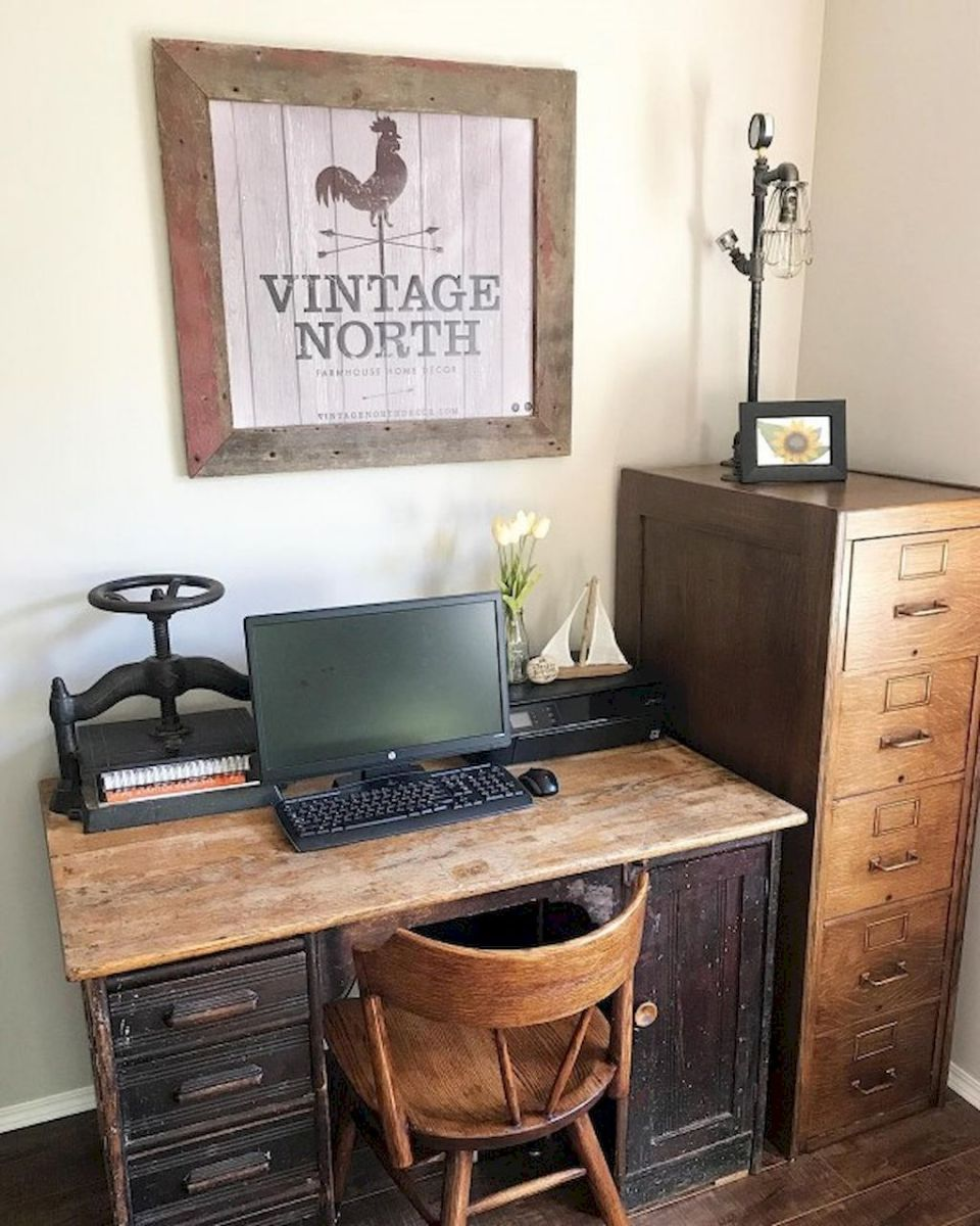 Decorating Home Office in Farmhouse Style