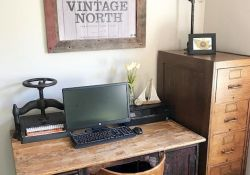 Brilliant Home Office Concept Marrying Farmhouse Design with Modern Touch Part 3