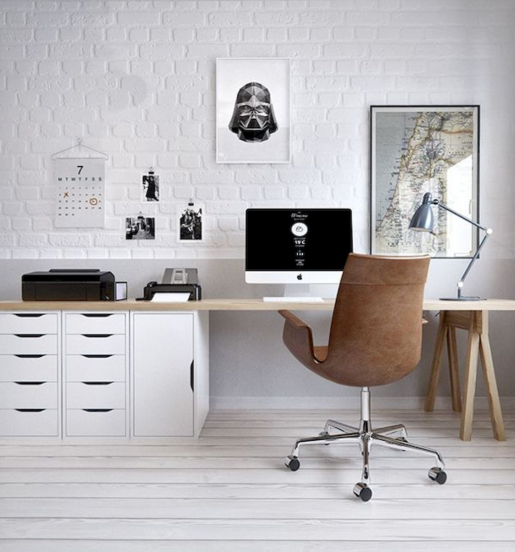 Cozy Home Office Ideas with White Desk Part 3