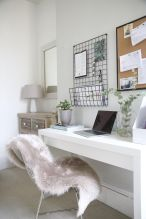 Home Office Designs with White Desk Concept Part 11