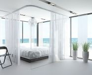 White Bedroom Decorating Ideas with Beautiful Accent Part 28
