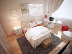 White Bedroom Decorating Ideas with Beautiful Accent Part 32