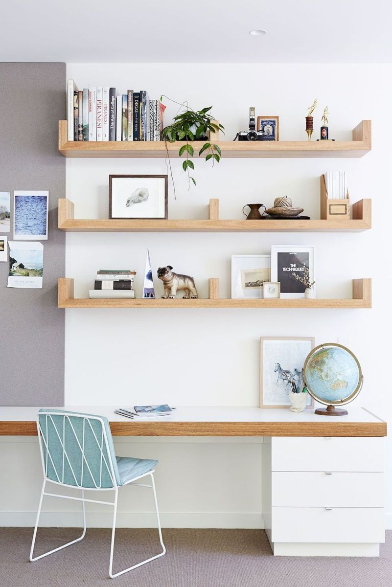White Desk Ideas for Modern Home Office Design Part 29