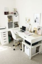 White Desk Ideas for Modern Home Office Design Part 30