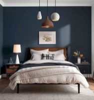 Beautiful Bedroom Designs in Darker Color Combination to Create Deeper Mood Effect Part 11