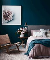 Beautiful Bedroom Designs in Darker Color Combination to Create Deeper Mood Effect Part 17