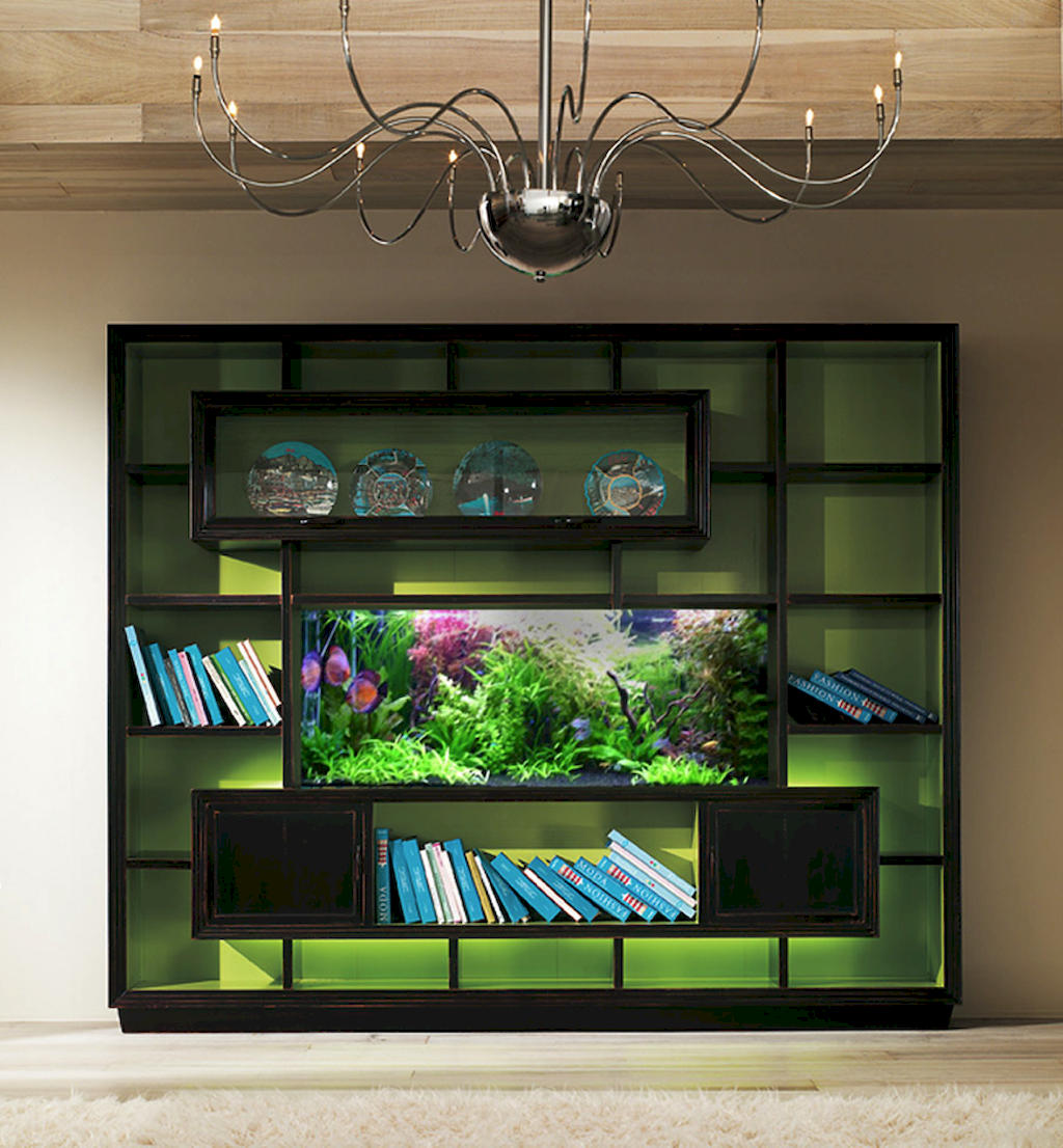 Exotic Wall Mounted Aquarium Giving Better Mood Everyday Part 45
