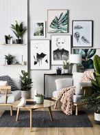 Genius wall accent decoration to liven up your home vibes Part 32