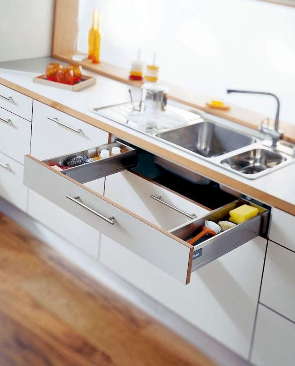 Inspiring Kitchen Organization and Storage Ideas to Make the Kitchen Looks Neater Part 16