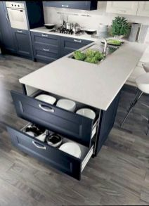 Inspiring Kitchen Organization and Storage Ideas to Make the Kitchen Looks Neater Part 18