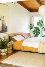 Relaxing Bedroom Feel with Natural Touch of Greenery Decorations Part 22