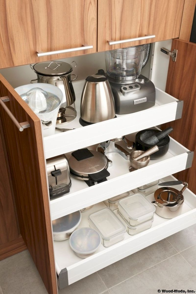 Small Kitchen Organization Ideas with Inspiring Hidden Storage Concept to Make Kitchen Look Neater Part 46