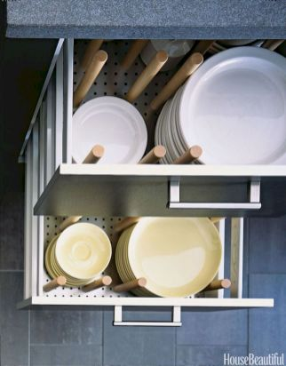 Small Kitchen Organization Ideas with Inspiring Hidden Storage Concept to Make Kitchen Look Neater Part 58