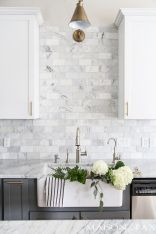 Stunning Kitchen Backsplash Ideas for Neutral Color Kitchen Designs Part 38