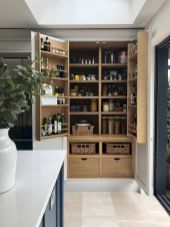 White Kitchen Pantry Organization in Practical Steps Part 41