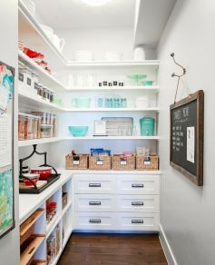 White Kitchen Pantry Organization in Practical Steps Part 50
