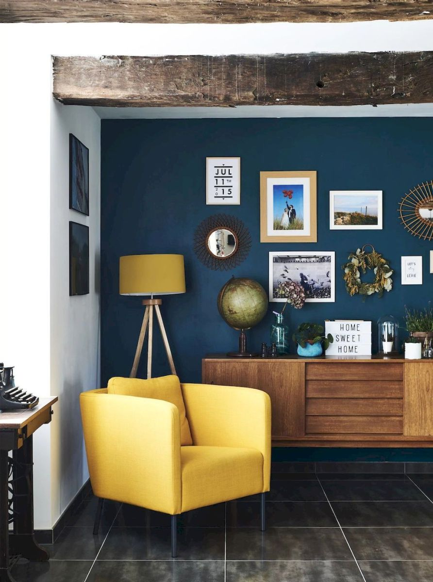 Amazing Interior Ideas in Blue and Yellow Decorations Part 21