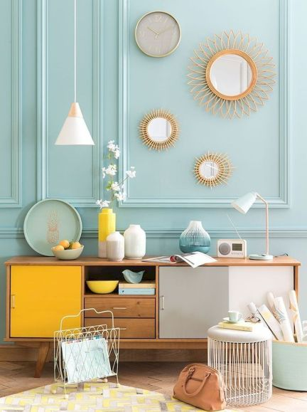 Amazing Interior Ideas in Blue and Yellow Decorations Part 30