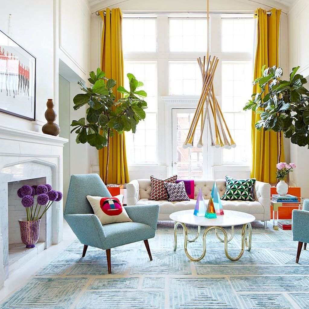 Amazing Interior Ideas in Blue and Yellow Decorations Part 31