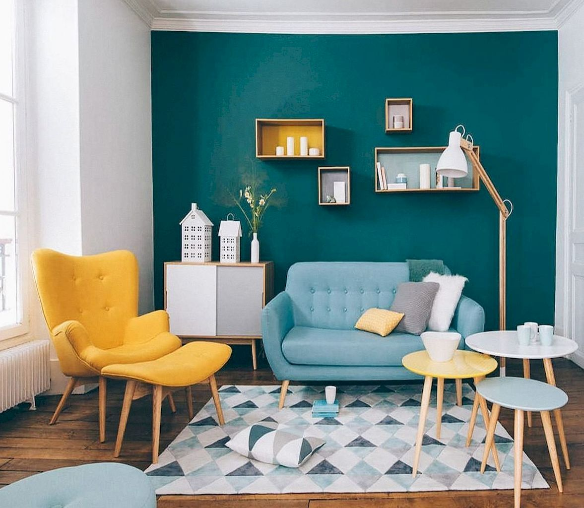 Amazing Interior Ideas in Blue and Yellow Decorations Part 32