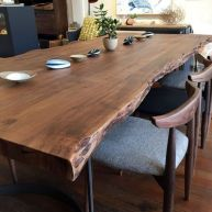 Amazing ideas of liveedge dining tables with more inspiration to liven up the dining rooms friendly and refreshing vibes Part 9