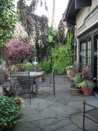 Amazing outdoor and garden paving ideas using flagstones Part 29