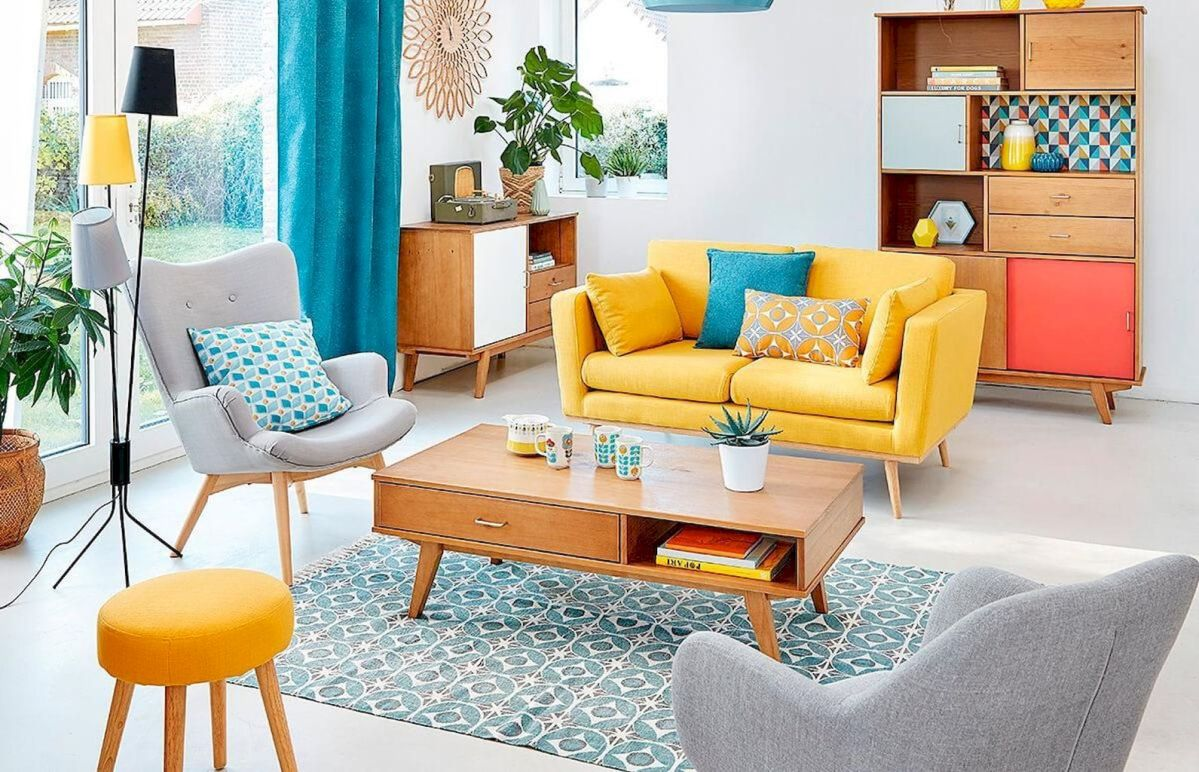 Best Blue Yellow Colors Mixing that Sparks Cheerful Interior Mood Part 13