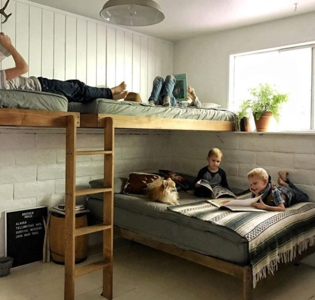 Cool bunk beds design ideas for boys that wonderful as solution for making the most out of a shared space Part 12