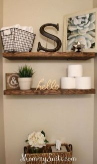 DIY bathroom shelves from wood pallets that improve bathroom looks Part 15
