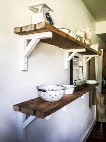 DIY bathroom shelves from wood pallets that improve bathroom looks Part 8