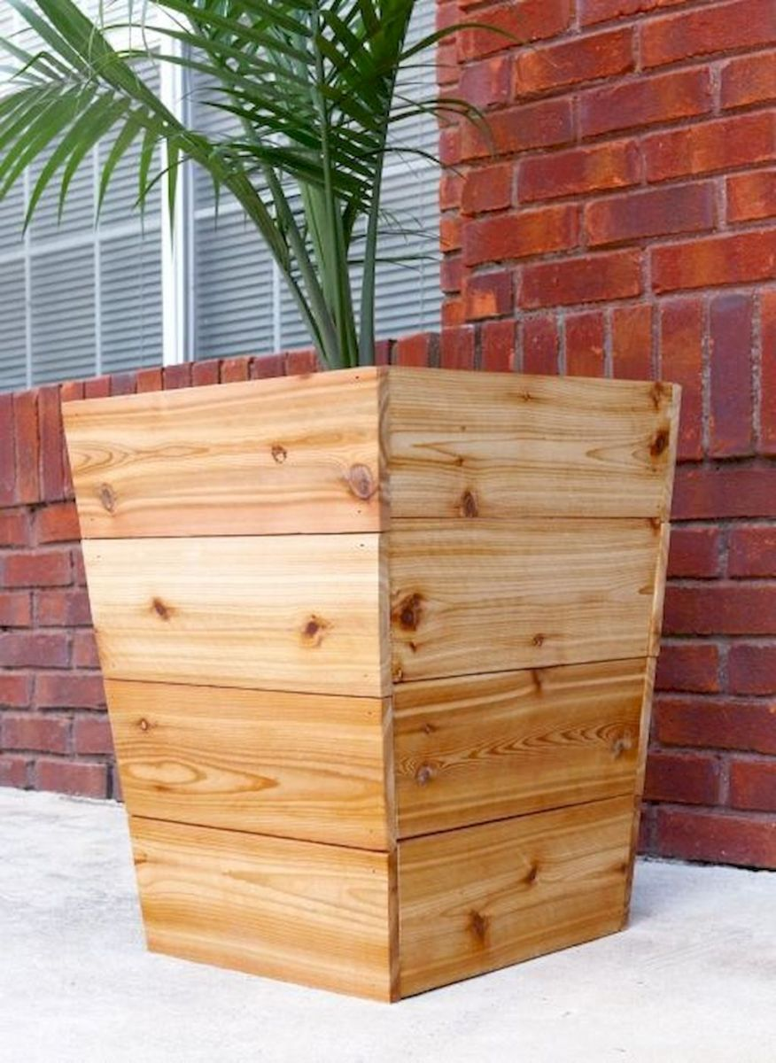 DIY planter boxes made from reclaimed woods and pallets excellent for outdoor and indoor decoration Part 17