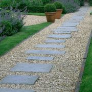 Exotic traditional style of graveled garden walkways that add more natural vibes in your garden designs Part 25