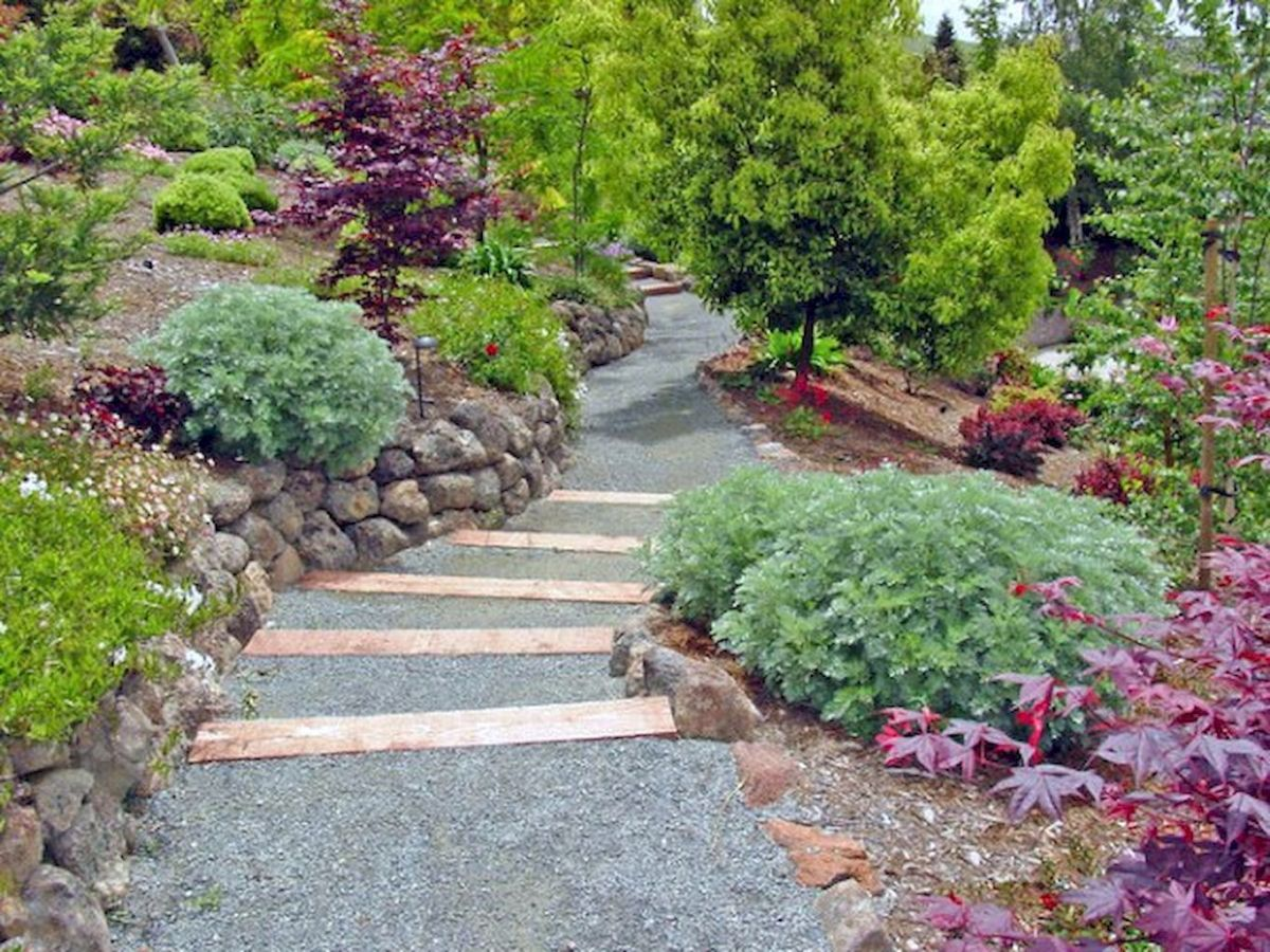 Graveled garden walkways that give more exotic natural finishing in your garden designs Part 10