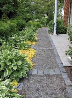Graveled garden walkways that give more exotic natural finishing in your garden designs Part 12