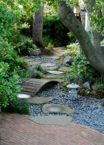Graveled garden walkways that give more exotic natural finishing in your garden designs Part 7