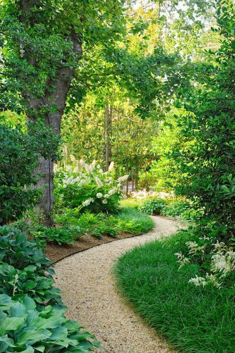 Graveled garden walkways that give more exotic natural finishing in your garden designs Part 8