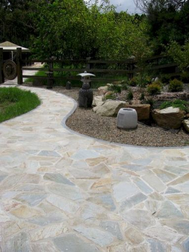 Inspiring outdoor and garden paving ideas using flagstones Part 7