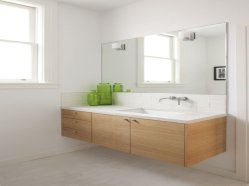 Modern bathroom designs with floating wood vanity and wallmounted bathroom cabinets Part 18