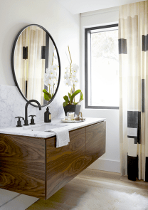 Modern bathroom designs with floating wood vanity and wallmounted bathroom cabinets Part 23
