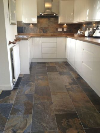 Natural Stone Floor Ideas that Looks Amazing in Traditional and Vintage Kitchen Styles Part 12