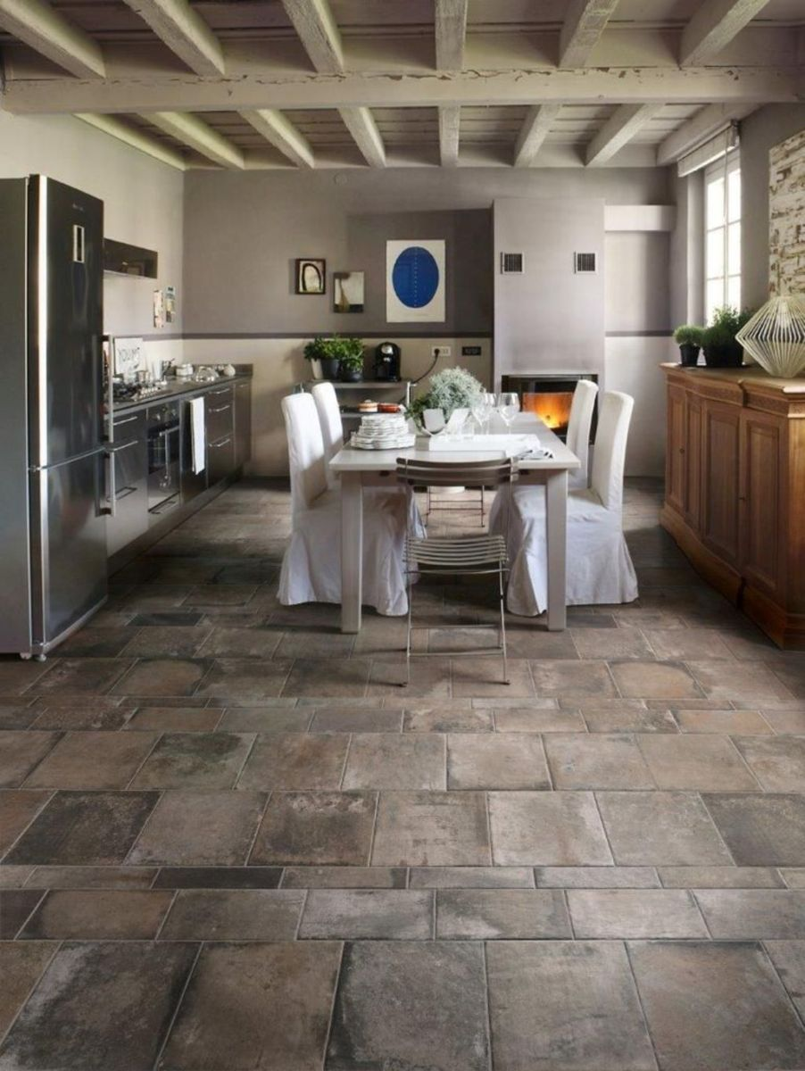 Natural Stone Floor Ideas that Looks Amazing in Traditional and Vintage Kitchen Styles Part 28
