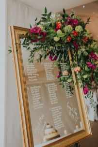 Refreshing spring wedding garland with green and ivory color theme decoration over the walls wedding arch and tables Part 5