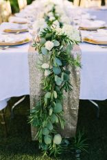 Romantic Spring Wedding Decoration with Green Peach and Cherry Pink Color Themes That Look Very Lovely Part 26