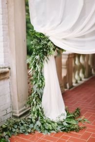 Romantic Spring Wedding Decoration with Green Peach and Cherry Pink Color Themes That Look Very Lovely Part 29